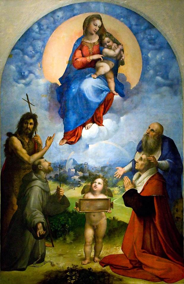 Raffaello - Madonna di Foligno (1511-2) olio su tela, Città del Vaticano, Pinacoteca Vaticana