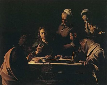 Michelangelo Merisi, Caravaggio - Cena in Emmaus (1606)