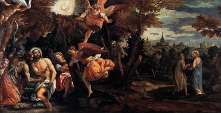 Paolo Veronese - Battesimo e tentazioni di Cristo (Ciclo di San Nicolò della Lattuga) (1582)